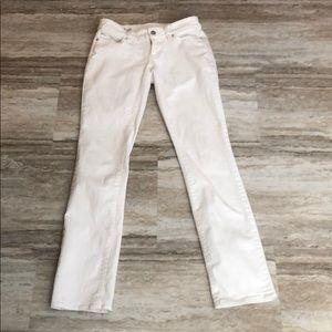 Ann Taylor skinny leg white jeans